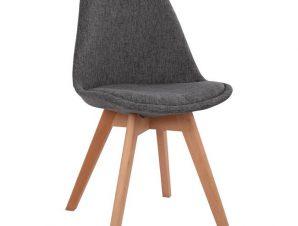 Καρέκλα Υφασμάτινη-Ξύλινη Γκρι 48x55x82εκ. Freebox FB90033.50 (Υλικό: Ξύλο, Χρώμα: Γκρι) – Freebox – FB90033.50