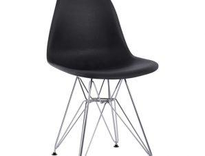 Καρέκλα Μεταλλική-Πολυπροπυλενίου Μαύρη-Χρωμίου 46,5x48x81εκ. Freebox FB98449.02 (Υλικό: Μεταλλικό, Χρώμα: Μαύρο) – Freebox – FB98449.02