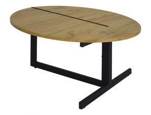 Τραπέζι Σαλονιού Mdf Με Μεταλλικά Πόδια Φ80×43Υεκ. Freebox FB98535.01 (Υλικό: Μεταλλικό, Χρώμα: Μαύρο) – Freebox – FB98535.01