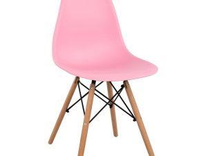 Καρέκλα Πολυπροπυλενίου Ροζ Με Ξύλινα Πόδια 46x50x82εκ. Freebox FB98460.05 (Υλικό: Ξύλο, Χρώμα: Ροζ) – Freebox – FB98460.05