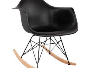 Πολυθρόνα Κουνιστή Πολυπροπυλενίου Με Μαύρο Κάθισμα & Μαύρο Σκελετό 61x71x64εκ. Freebox FB90035.12 (Υλικό: Πολυπροπυλένιο, Χρώμα: Μαύρο) – Freebox – FB90035.12