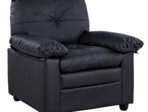 Πολυθρόνα Με Μαύρη Δερματινή 91x84x93Υεκ. Freebox FB93140.13 (Υλικό: PU, Χρώμα: Μαύρο) – Freebox – FB93140.13