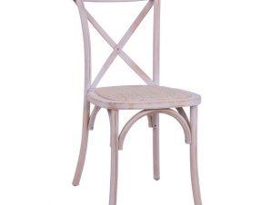 Καρέκλα Στοιβαζόμενη Ξύλινη White Wash Με Χιαστή Πλάτη 45×55,5×90εκ. Freebox FB98575.04 (Υλικό: Ξύλο, Χρώμα: Λευκό) – Freebox – FB98575.04