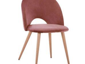 Καρέκλα Βελούδινη Σάπιο Μήλο Με Μεταλλικά Πόδια 52×49,5×77εκ. Freebox FB98544.02 (Υλικό: Μεταλλικό, Ύφασμα: Βελούδο, Χρώμα: Σάπιο Μήλο ) – Freebox – FB98544.02