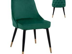 Καρέκλα Βελούδινη Κυπαρρισί Με Μεταλλικό Σκελετό 51x58x83Υεκ. Freebox FB98527.03 (Υλικό: Μεταλλικό, Ύφασμα: Βελούδο, Χρώμα: Κυπαρισσί) – Freebox – FB98527.03