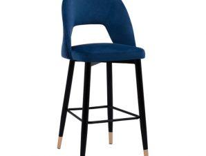 Σκαμπώ Μπαρ Βελούδινο Μπλε Με Μεταλλικό Σκελετό 50x51x111Yεκ. Freebox FB98526.08 (Υλικό: Μεταλλικό, Ύφασμα: Βελούδο, Χρώμα: Μαύρο) – Freebox – FB98526.08