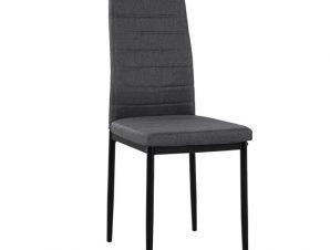 Καρέκλα Μεταλλική-Υφασμάτινη Γκρι 40x48x95εκ. Freebox FB90037.20 (Υλικό: Μεταλλικό, Χρώμα: Μαύρο) – Freebox – FB90037.20
