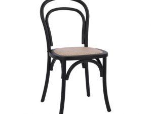 Καρέκλα Ξύλινη Στοιβαζόμενη Από Ξύλο Οξιάς Μαύρη Ματ Freebox 45x54x89εκ. FB98644.02 (Υλικό: Ξύλο, Χρώμα: Μαύρο) – Freebox – FB98644.02