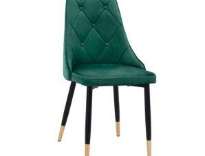 Καρέκλα Βελούδινη Κυπαρισσί Με Μεταλλικό Σκελετό 49x53x88Υεκ. Freebox FB98701.03 (Υλικό: Μεταλλικό, Ύφασμα: Βελούδο, Χρώμα: Κυπαρισσί) – Freebox – FB98701.03