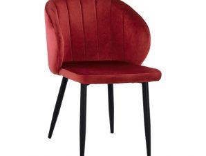 Πολυθρόνα Βελούδινη Κόκκινο Βουργουνδίας Με Μεταλλικό Σκελετό 52x55x80Yεκ. Freebox FB98700.06 (Υλικό: Μεταλλικό, Ύφασμα: Βελούδο, Χρώμα: Κόκκινο) – Freebox – FB98700.06