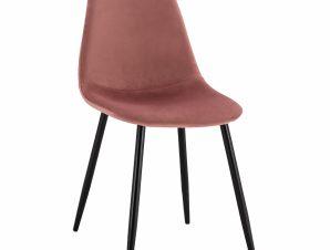 Καρέκλα Βελούδινη Σάπιο Μήλο Με Μεταλλικά Πόδια 45x53x85Υεκ. Freebox FB900100.02 (Υλικό: Μεταλλικό, Ύφασμα: Βελούδο, Χρώμα: Σάπιο Μήλο ) – Freebox – FB900100.02