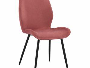 Καρέκλα Βελούδινη Σάπιο Μήλο Με Μαύρο Μεταλλικό Σκελετό 49×62,5×87εκ. Freebox FB98730.02 (Υλικό: Μεταλλικό, Ύφασμα: Βελούδο, Χρώμα: Μαύρο) – Freebox – FB98730.02