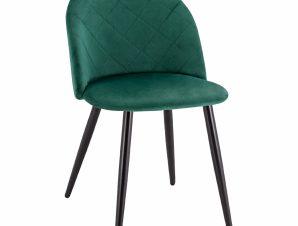 Καρέκλα Βελούδινη Κυπαρισσί Με Μεταλλικά Μαύρα Πόδια 49x57x79Υεκ. Freebox FB98731.03 (Υλικό: Μεταλλικό, Ύφασμα: Βελούδο, Χρώμα: Κυπαρισσί) – Freebox – FB98731.03