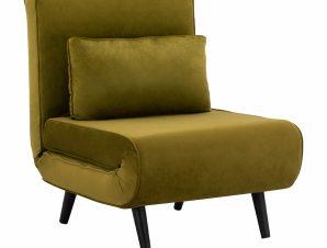 Πολυθρόνα- Κρεβάτι Βελούδινο Λαδί 75x75x88Yεκ. Freebox FB98425.13 (Ύφασμα: Βελούδο, Χρώμα: Λαδί) – Freebox – FB98425.13