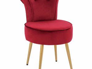 Σκαμπώ Με Πλάτη Βελούδινο-Μεταλλικό Κόκκινο 44x49x70Υεκ. Freebox FB98469.16 (Υλικό: Μεταλλικό, Ύφασμα: Βελούδο, Χρώμα: Κόκκινο) – Freebox – FB98469.16