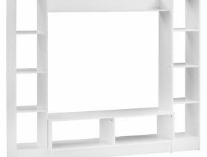 Σύνθεση Τηλεόρασης Μελαμίνης Λευκή 181×29,5×145εκ. Freebox FB92255 (Υλικό: Μελαμίνη, Χρώμα: Λευκό) – Freebox – FB92255