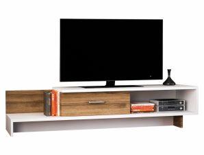 Έπιπλο Τηλεόρασης Μελαμίνης Καρυδί-Λευκό 161,8x39x30,6εκ. Freebox FB98894.01 (Υλικό: Μελαμίνη, Χρώμα: Λευκό) – Freebox – FB98894.01