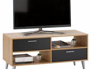 Έπιπλο Τηλεόρασης Μελαμίνης 120,5×35,5×51εκ. Sonama-Γκρι Freebox FB92291.10 (Υλικό: Μελαμίνη, Χρώμα: Γκρι) – Freebox – FB92291.10
