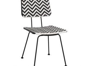 Καρέκλα Μεταλλική Με Wicker Μαύρο-Λευκό 46x56x88Υεκ. Freebox FB95693 (Υλικό: Μεταλλικό, Χρώμα: Λευκό) – Freebox – FB95693
