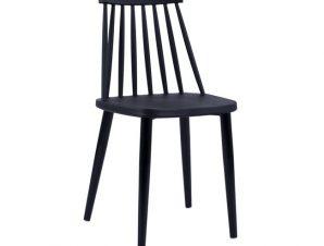 Καρέκλα Τραπεζαρίας Μεταλλική-Πολυπροπυλενίου Μαύρη 43×46,5×82εκ. FB98052.12 (Υλικό: Μεταλλικό, Χρώμα: Μαύρο) – Freebox – FB98052.12