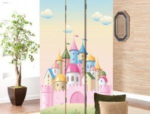 Ροζ Παλάτι Παιδικά Παραβάν 80×180 cm [Δίφυλλο]