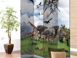 Άγρια Ζώα Παιδικά Παραβάν 80×180 cm [Δίφυλλο]
