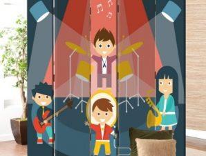 Μουσική συναυλία Παιδικά Παραβάν 80×180 cm [Δίφυλλο]