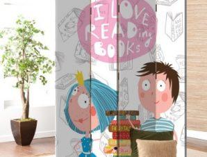 Αγαπώ Να Διαβάζω Βιβλία Παιδικά Παραβάν 80×180 cm [Δίφυλλο]