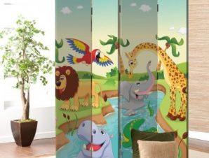 Ζωάκια στη ζούγκλα Παιδικά Παραβάν 80×180 cm [Δίφυλλο]