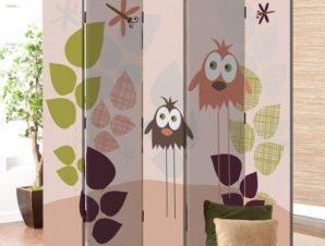 Πουλιά και λιβελούλες Παιδικά Παραβάν 80×180 cm [Δίφυλλο]